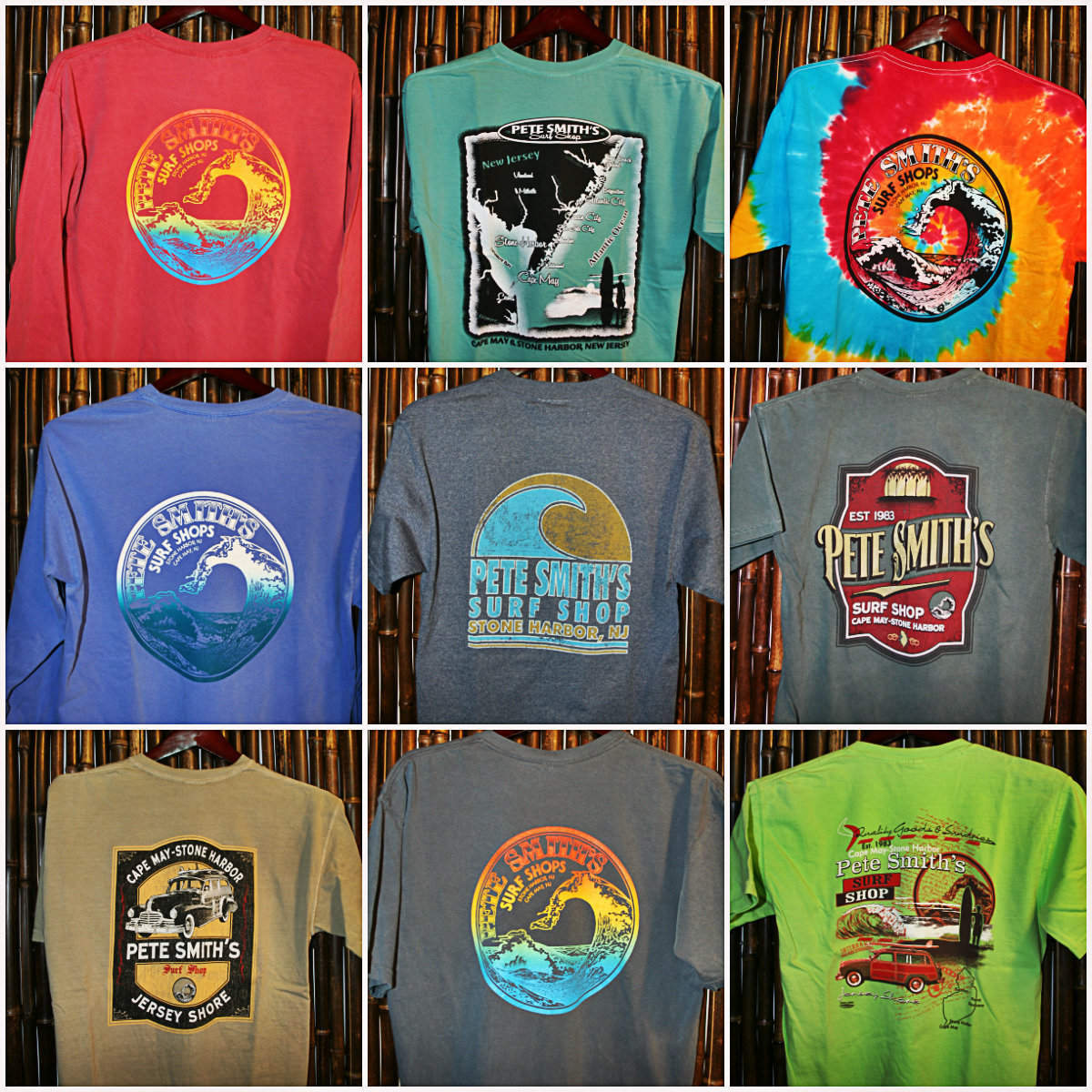 Pete smith 39 s surf shop cape may stone harbor new jersey for Surf shop tee shirts
